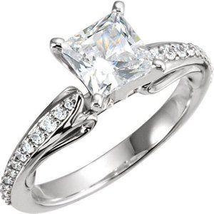 Jewelry - 1.79 ct Princess  round brilliant diamonds anniver
